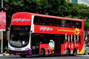Giá vé, điểm đón trả khách xe bus đi Nội Bài của Vietjet