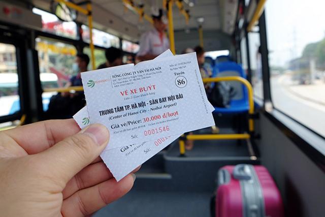 Đi xe bus từ sân bay Nội Bài về ga Hà Nội