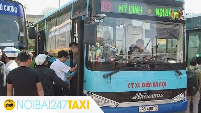 Đi từ sân bay Nội Bài về bến xe Mỹ Đình Xe bus 109