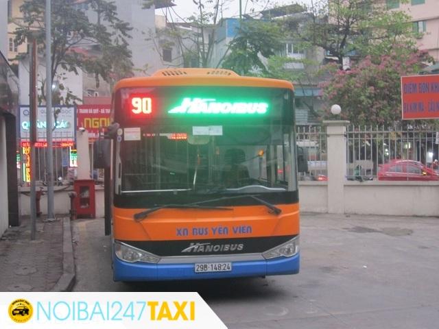 Đi từ sân bay Nội Bài về bến xe Mỹ Đình Xe bus 90
