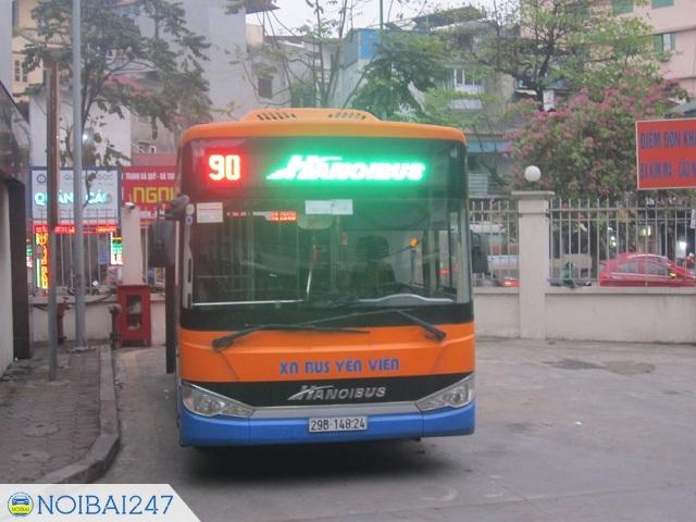 Cách đi xe bus từ sân bay Nội Bài về bến xe Mỹ Đình - Đi xe bus 90