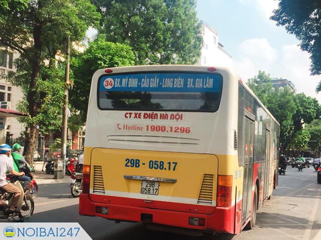 Cách đi xe bus từ sân bay Nội Bài về bến xe Mỹ Đình - Đi xe bus 34