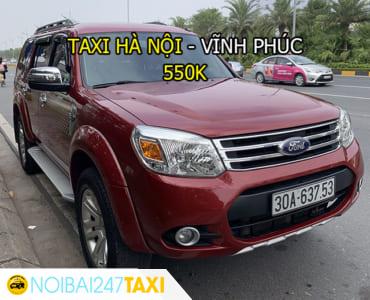 Taxi từ Hà Nội đi Vĩnh Phúc Giá Rẻ, Trọn Gói chỉ từ 550.000