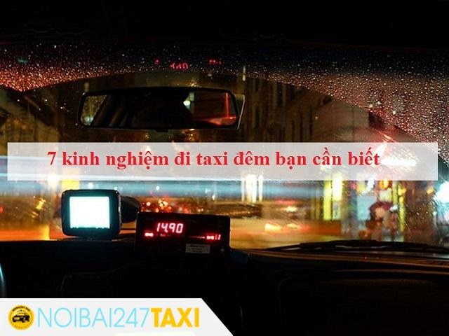 Kinh nghiệm đi taxi đêm
