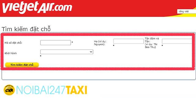 Cách kiểm tra vé máy bay của hãng Vietjet Air 2