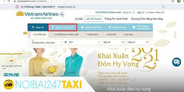Cách kiểm tra vé máy bay của hãng Vietnam Airline 1