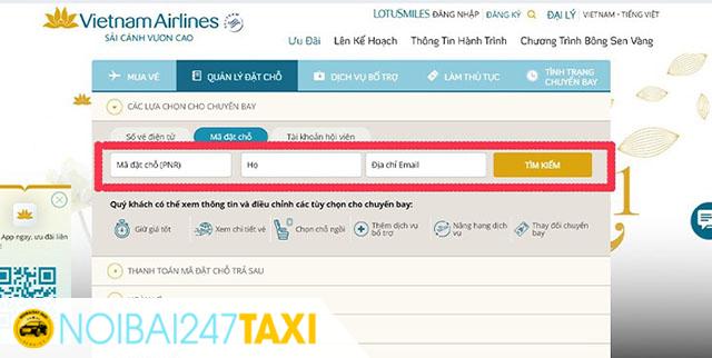 Cách kiểm tra vé máy bay của hãng Vietnam Airline 2